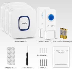 Coolqiya Weatherproof Wireless Doorbell Kit