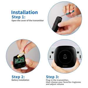 Wireless Doorbell By Tenswall 2nd version Installation