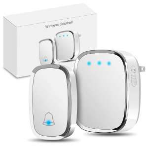 Govee Wireless Doorbell, white, 1 receiver and 1 push button with LED light